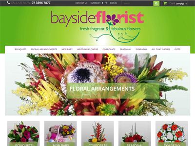 Baysude Florist Website Design