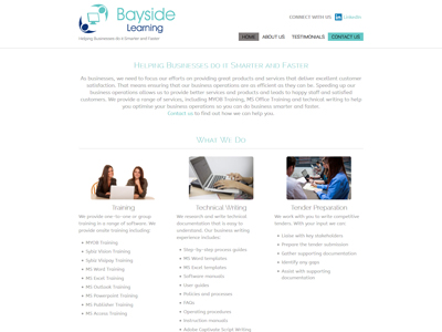 Bayside Learning Website Development