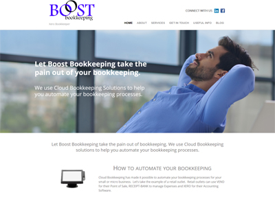 Boost Bookkeeping Wordpress Website