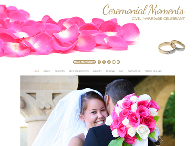 Ceremonial Moments Website Redesign