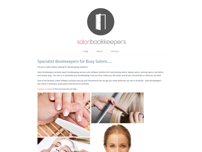 Salon Bookkeepers Website Design